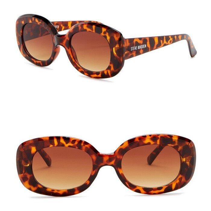 Steve Madden - 50mm Novelty Round Sunglasses