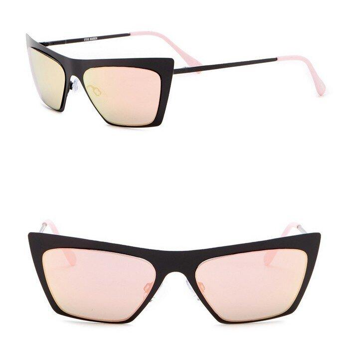 Steve Madden - 50mm Metal Cat Eye Sunglasses
