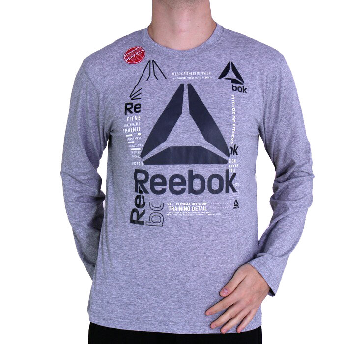 Reebok - T-Shirt mit langen Ärmeln