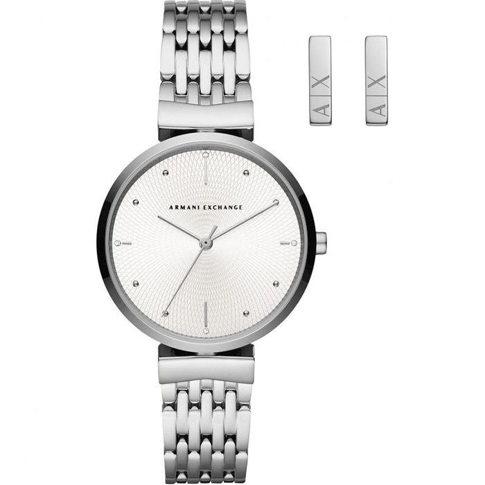 Armani Exchange - Zegarek + kolczyki