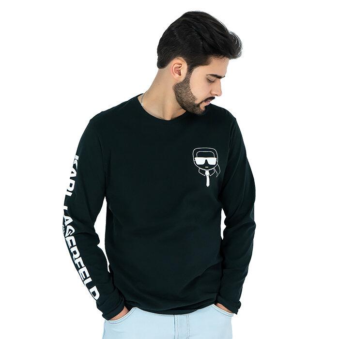 Karl Lagerfeld - T-Shirt mit langen Ärmeln