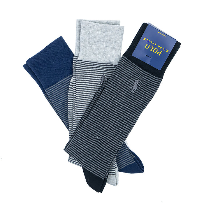 Ralph Lauren - Ponožky x 3 - Custom Fit