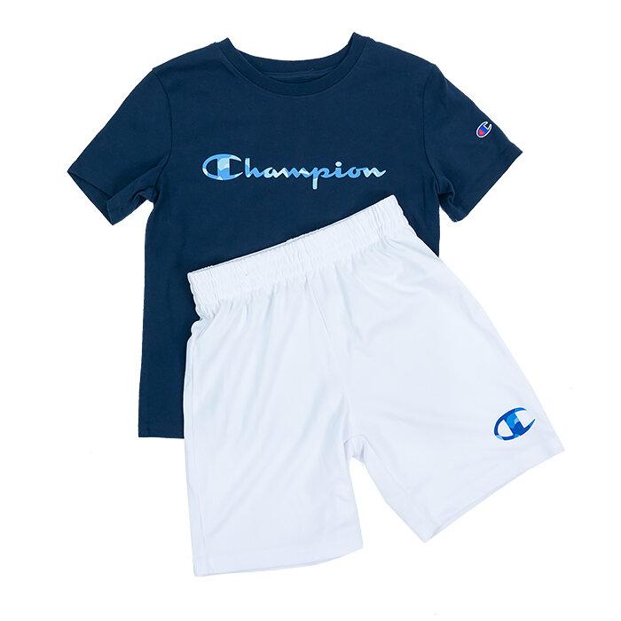 Champion - T-Shirt und Shorts