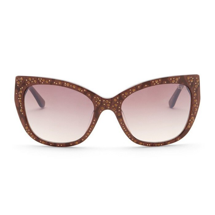 Guess - 54mm Crystal Accented Cat Eye Sunglasses